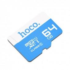 Карта памяти Hoco Micro SDHS 64GB Синяя