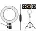 Кольцевая LED лампа 20 см селфи кольцо для блогера СО ШТАТИВОМ