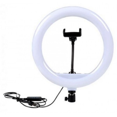 Кольцевая LED лампа 30 см 20 W с держателем для телефона селфи кольцо для блогера СО ШТАТИВОМ