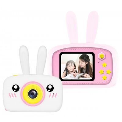Детский цифровой фотоаппарат XL 500R Зайчик Розовый с белым