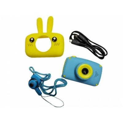 Детский цифровой фотоаппарат XL 500R Зайчик Жёлтый с синим