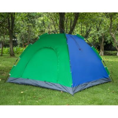 Самораскладывающаяся Палатка автомат 2-х местная с автоматическим каркасом 2*1,5 метра Синяя