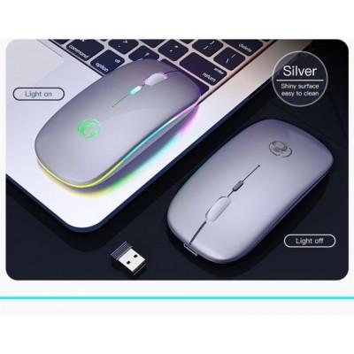 Мышь беспроводная аккумуляторная iMACE Е-1300 USB 2.4 ГГц с подсветкой Серая