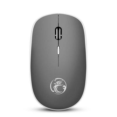 Беспроводная мышь мышка тихая плоская 1600dpi iMice G-1600 Серая
