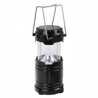 Кемпинговая LED лампа G 85 c POWER BANK Фонарь фонарик солнечная панель Чёрная