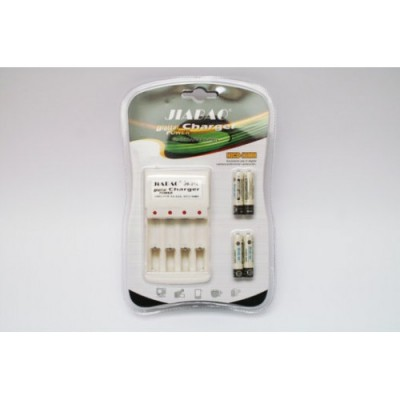 4 шт аккумуляторы AAA + зарядное устройство Jiabao JB-212