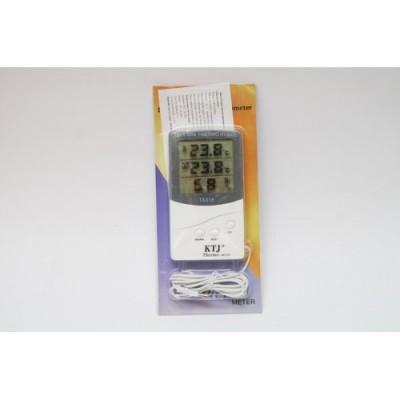 Термометр, гигрометр, метеостанция + выносной датчик TA 318 Белый