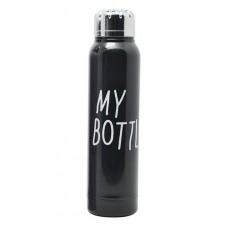Стильный термос My Bottle 300 мл 9045 металлический Чёрный
