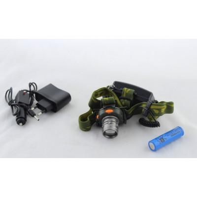 Аккумуляторный налобный фонарь DX - 1505 фонарик