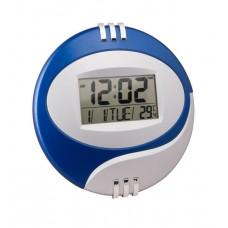 Электронные настенные часы Kenko КК 6870 с термометром Синие