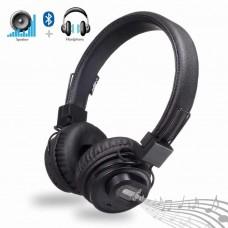 Беспроводные Bluetooth стерео наушники NIA X5SP с МР3, FM и колонкой Чёрный