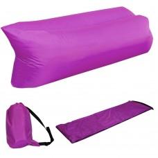 Ламзак надувной диван Lamzac гамак, шезлонг, матрас Двухслойный Фиолетовый