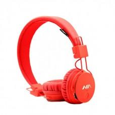 Беспроводные Bluetooth Наушники с MP3 плеером NIA-X3 Радио блютуз Красные