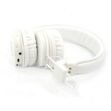 Беспроводные Bluetooth Наушники с MP3 плеером NIA-X3 Радио блютуз Белые
