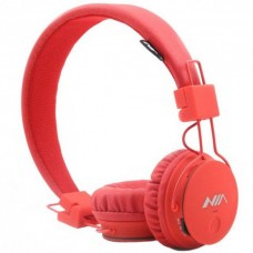 Беспроводные Bluetooth Наушники с MP3 плеером NIA-X2 Радио блютуз Красные
