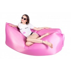 Ламзак надувной диван Lamzac гамак, шезлонг, матрас Двухслойный Розовый