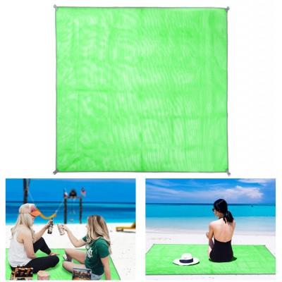 Коврик-подстилка для пикника или моря анти-песок Sand Free Mat 200x200 см Зелёный