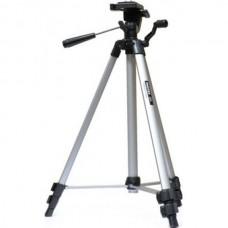 Штатив для фотоаппарата трипод 330A серебряный + чехол