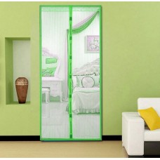 Анти москитная сетка штора на магнитах Magic Mesh 100*210 см Зелёная