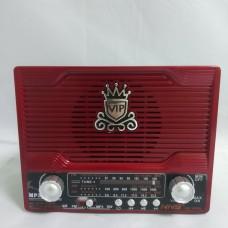 Радиоприемник NS-1556S с солнечной панелью Красный