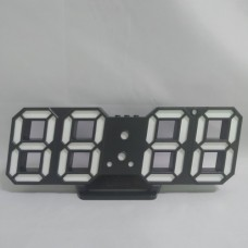 Электронные настольные LED часы с будильником и термометром Caixing CX-2218 чёрные (зелёная подсветка)