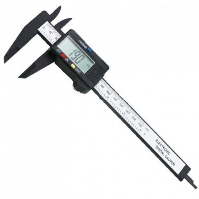 Электронный цифровой штангенциркуль микрометр с LCD дисплеем Пластмассовый
