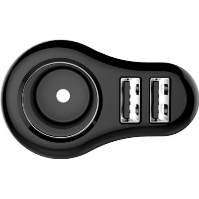 Автомобильное зарядное устройство GOLF GF-C14 2 USB 2.1A Чёрный с серым