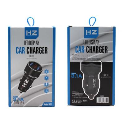 Автомобильное зарядное устройство (АЗУ) HZ HC7 на 2 USB Чёрный