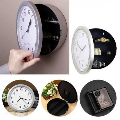 Настенные пластиковые часы-тайник-сейф SAFE CLOCK