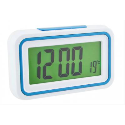 Будильник говорящие часы KENKO 9905 TR Белый с Голубым