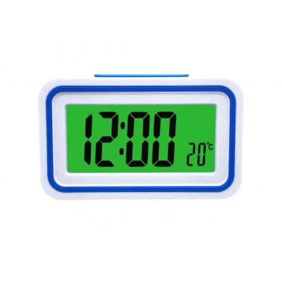 Будильник говорящие часы KENKO 9905 TR Белый с Синим