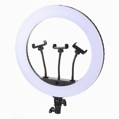 Кольцевая LED лампа 35 см 15 W с держателем для телефона селфи кольцо для блогера СО ШТАТИВОМ