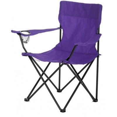 Стул раскладной со спинкой Camping quad chair HX 001 с подстаканником Фиолетовый