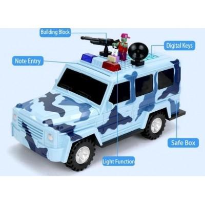 Машинка 3в1 копилка + сейф + игрушка Гелендваген Камуфляж