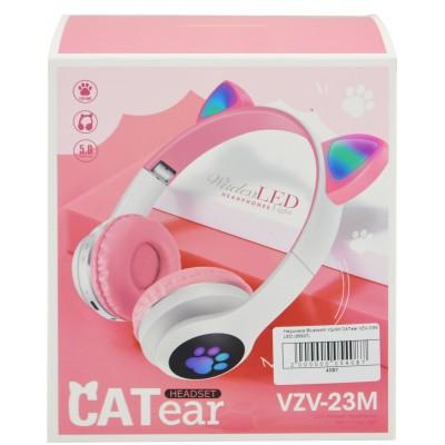 Беспроводные наушники с кошачьими ушками и RGB подсветкой Cat VZV-23M Розовые