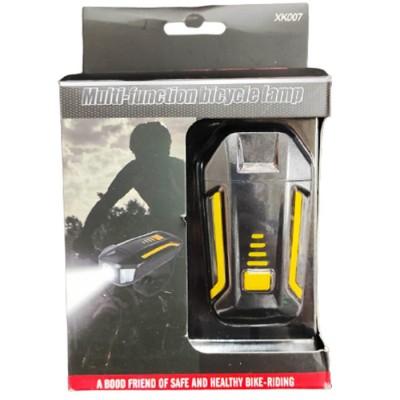 Велосипедный фонарь фара с сигналом XK-007