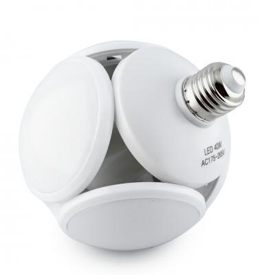 Лампочка люстра светодиодная раскладная LED лампа 40Вт 220В E27 Football UFO Lamp белый