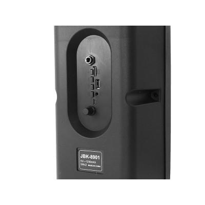 Портативная беспроводная Bluetooth колонка 10Вт JBK-8901 Чёрная с Синим