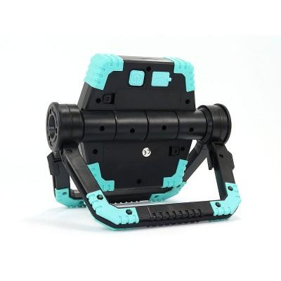 Фонарь прожектор (трансформер) YD-858A с Power Bank Чёрный с синим