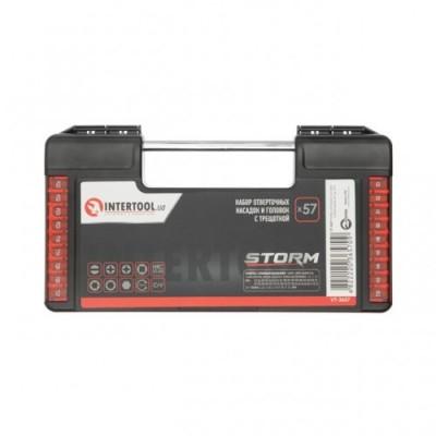 Набор отверточных насадок и головок с трещеткой 57 ед, STORM INTERTOOL VT-3657