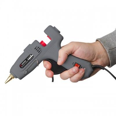 Пистолет клеевой 40(120)Вт, 230В, 195-210°C под стержни 10.8-11.5мм, 10-16.5 г/мин., выключатель. INTERTOOL RT-1102